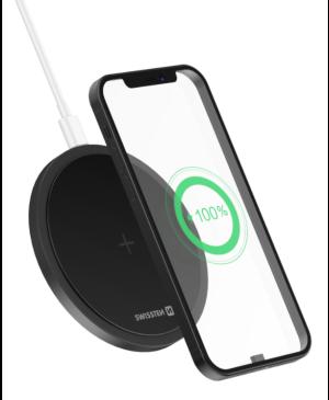 Bezdrôtová nabíjačka Swissten Wireless 15W - čierna