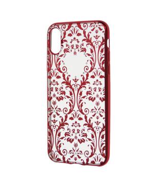 Silikónové puzdro Devia Baroque pre Apple iPhone X/ XS červené