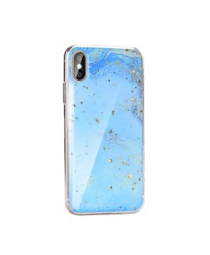 Silikónové puzdro Forcell Marble 3 pre Apple iPhone 11 modré