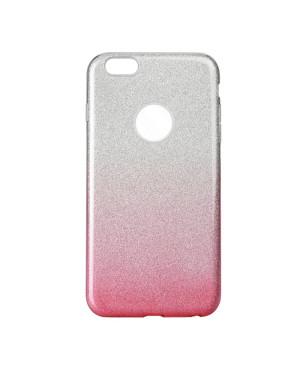 Silikónové puzdro Forcell Shining pre Apple iPhone 6/6S ružovo transparentné