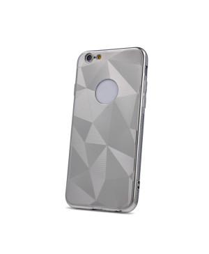 Silikónové puzdro Geometric Shine pre Huawei Y7 2019 strieborné