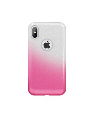 Silikónové puzdro Glitter 3v1 pre Huawei Y6 2018 ružové (