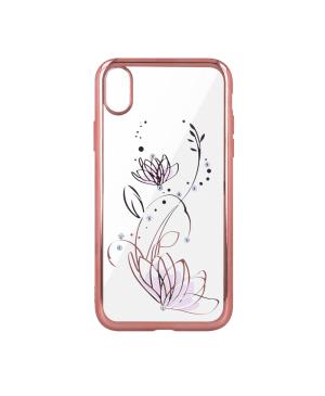 Silikónové puzdro Lotus pre Apple iPhone 6 6s Plus ružovo- zlaté