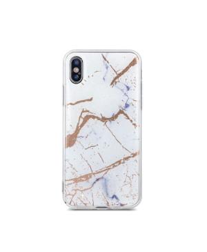 Silikónové puzdro Marmur pre Apple iPhone X/ XS biele