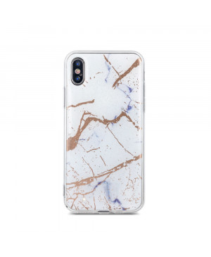 Silikónové puzdro Marmur pre Samsung Galaxy J4 Plus 2018 biele
