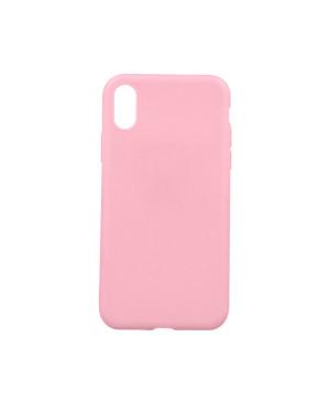 Silikónové puzdro Matt TPU pre Apple iPhone XS Max ružové