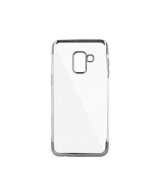 Silikónové puzdro Plating Soft pre Apple iPhone XR strieborné