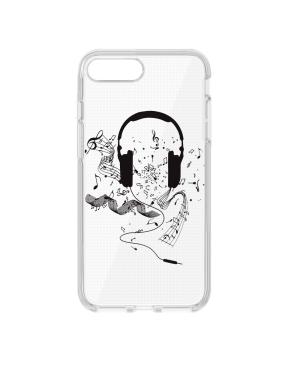Silikónové puzdro Ultra Trendy Music1 pre Samsung Galaxy S9 transparentné
