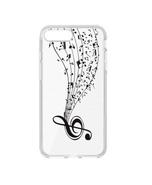 Silikónové puzdro Ultra Trendy Music2 pre Samsung Galaxy A6 Plus 2018 transparentné
