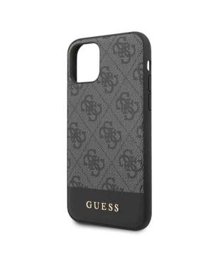 GUHCN61G4GLGR Guess 4G Stripe Zadní Kryt pro iPhone 11 Grey (EU Blister)