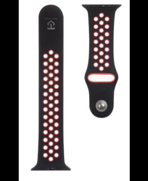 Náhradný remienok na Apple Watch 42 - 45 mm Tactical 163 Double čierno-červený
