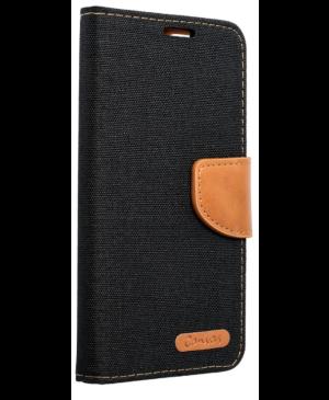 Diárové puzdro na Samsung Galaxy A40 A405 Canvas čierne