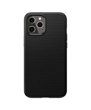 Silikónové puzdro na Apple iPhone 12/12 Pro Spigen Liquid Air čierne