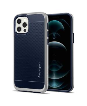 Plastové puzdro na iPhone 12/12 Pro Spigen Neo Hybrid strieborné