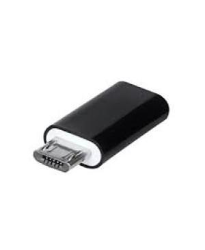 Adaptér z micro USB na typ-C čierny