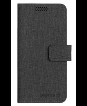 Diárové puzdro Swissten Libro Uni Book, veľkosť XXL, čierne