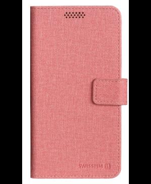 Diárové puzdro Swissten Libro Uni Book, veľkosť XL, ružové