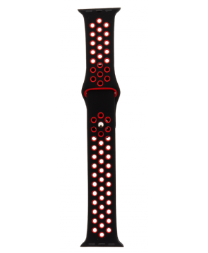 Tactical 130 Double Silikonový Řemínek pro iWatch 1/2/3 42mm Black/Red (EU Blister)