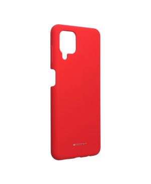 Silikónové puzdro na Samsung Galaxy A12/M12 Mercury Silicone červené