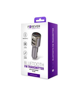 Transmitor FM Bluetooth Forever TR-340 strieborný