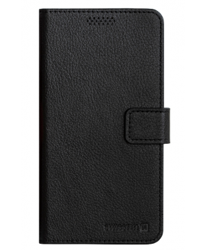 Diárové puzdro Swissten Libro Uni Book, veľkosť L, čierne