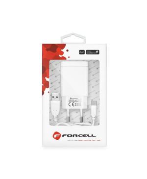 Univerzálna nabíjačka Forcell s micro USB káblom typu-C - 2,4A rýchlonabíjanie 3.0