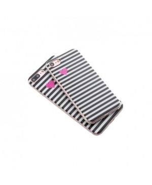 Valentínske silikónové puzdro Heartbeat pre Apple iPhone 6/6s čierne