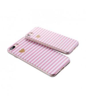 Valentínske silikónové puzdro Heartbeat 3 pre Apple iPhone 7/8 ružové srdiečko