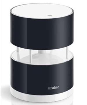 Netatmo Wind Gauge - senzor rýchlosti a smeru vetra pre meteostanicu
