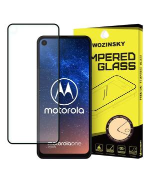 Tvrdené sklo Wozinsky 9H na Motorola One Action/Motorola One Vision (full glue) čierne