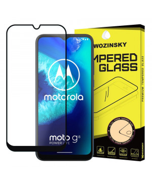 Tvrdené sklo Wozinsky Full Glue Super Tough Screen Protector Full Coveraged pre Motorola Moto G8 Power Lite čierne