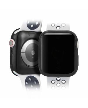Silikónové puzdro Dux Ducis pre Apple Watch 4 40 mm čierne a transparentné