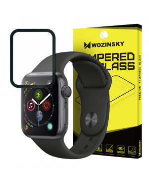 Tvrdené sklo Full Cover pre Apple Watch 4 40 mm čierne