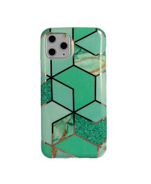 Silikónové puzdro na Apple iPhone 11 Pro Cosmo Marble zelené