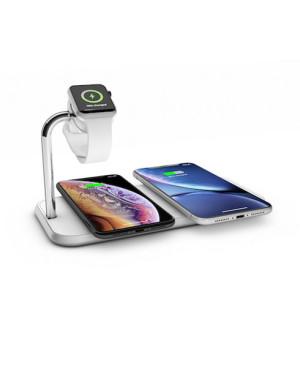 Bezdrôtová nabíjačka pre smartfóny a hodinky Zens Aluminium Dual 10W biela