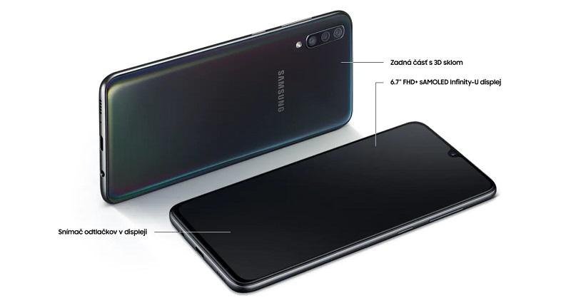 Samsung Galaxy A70 - A705F, Dual SIM, 6/128 GB, Blue - SK distribúcia